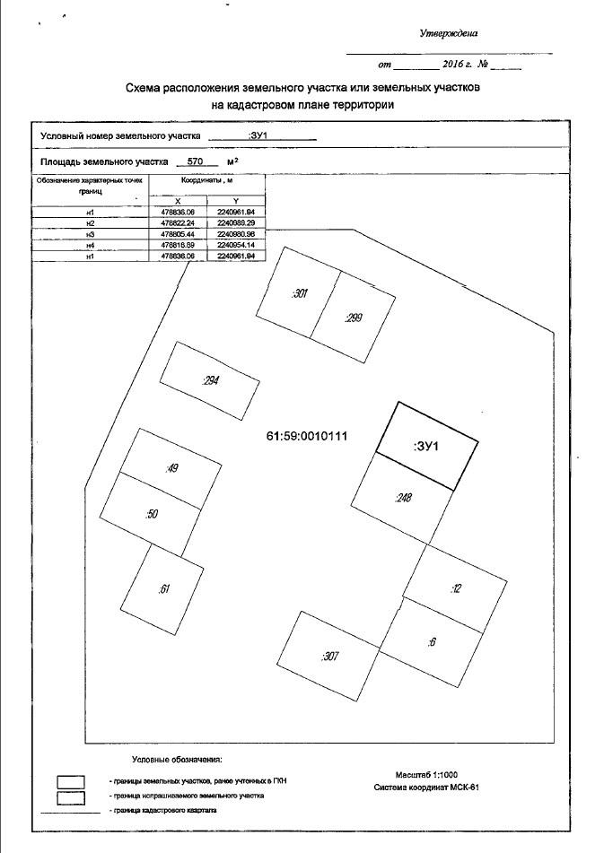 Схема расположения участка для предварительного согласования